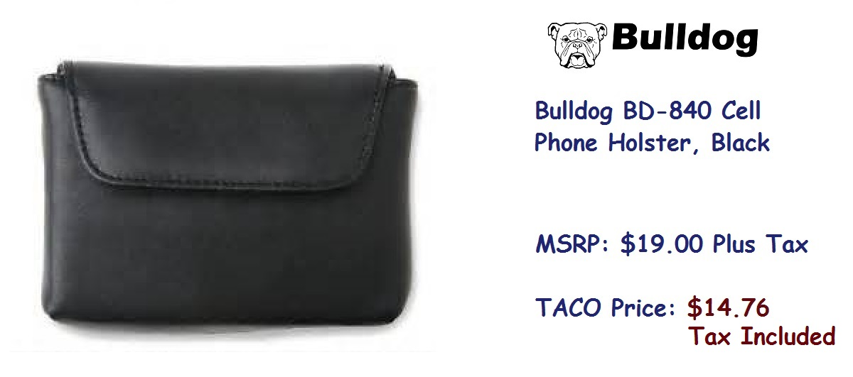 Bulldog-BD840-Cell-Phone-Holster-Black