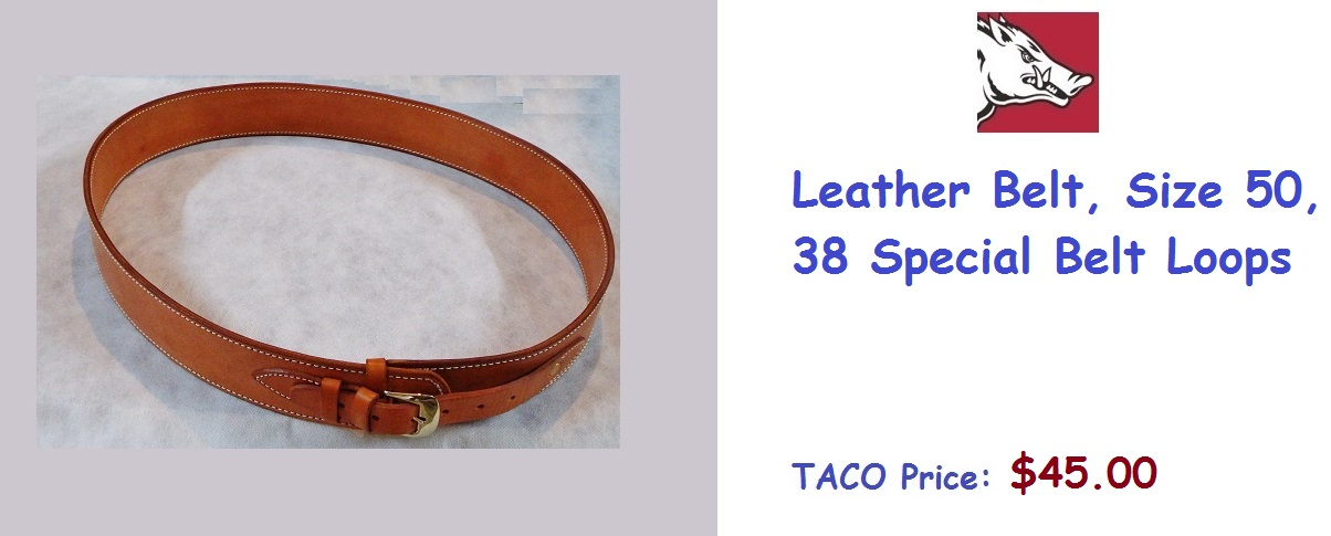 LeatherBelt-Size50-38SplLoops