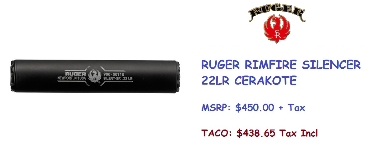 RUGER SUPPRESSOR Cerakote
