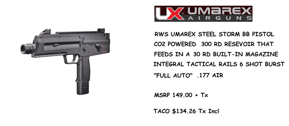 RWS UMAREX STEEL STORM BB PISTOL 177 AIR