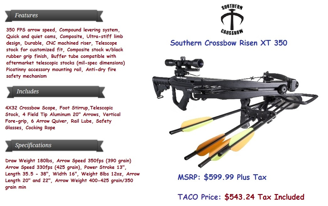 SouthernCrossbow-Risen-XT-350-4Arrows